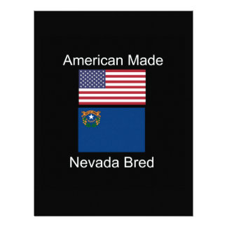 """American Born..Nevada Bred"" Flags and Patriotism Letterhead"