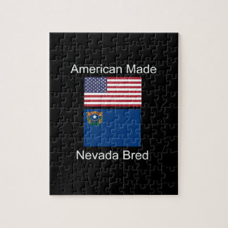 """""""American Born..Nevada Bred"""" Flags and Patriotism Puzzle"""