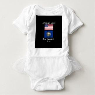 """American Born..New Hampshire Bred"" Flag Design Baby Bodysuit"