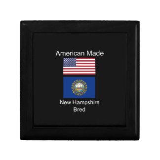 """""""American Born..New Hampshire Bred"""" Flag Design Gift Box"""