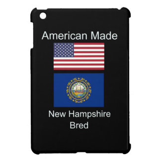 """American Born..New Hampshire Bred"" Flag Design iPad Mini Case"