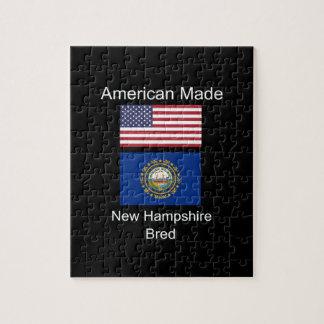 """American Born..New Hampshire Bred"" Flag Design Jigsaw Puzzle"