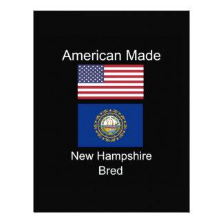 """""""American Born..New Hampshire Bred"""" Flag Design Letterhead Template"""
