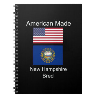 """American Born..New Hampshire Bred"" Flag Design Notebook"
