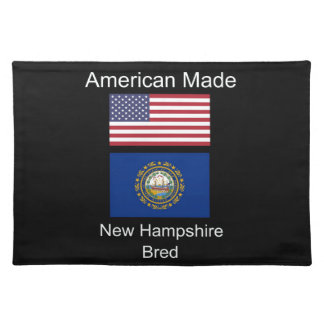 """American Born..New Hampshire Bred"" Flag Design Place Mat"