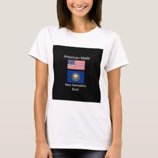 """American Born..New Hampshire Bred"" Flag Design T-Shirt"