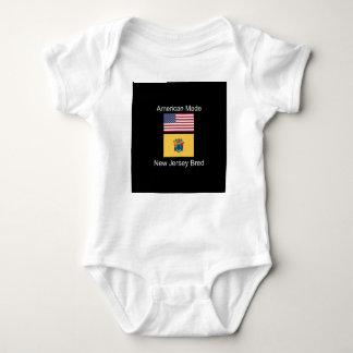 """American Born..New Jersey Bred"" Flag Design Baby Bodysuit"