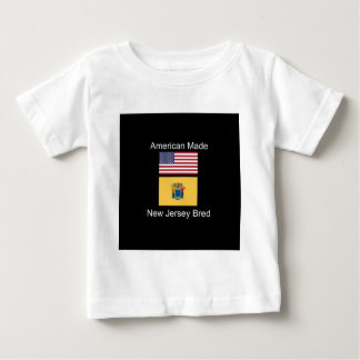 """American Born..New Jersey Bred"" Flag Design Baby T-Shirt"