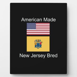 """American Born..New Jersey Bred"" Flag Design Plaque"