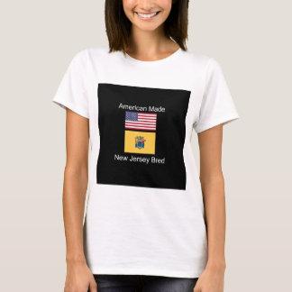 """American Born..New Jersey Bred"" Flag Design T-Shirt"