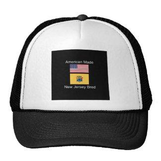 """American Born..New Jersey Bred"" Flag Design Trucker Hat"