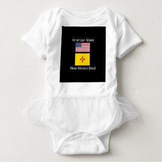 """American Born..New Mexico Bred"" Flag Design Baby Bodysuit"