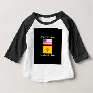 """""""American Born..New Mexico Bred"""" Flag Design Baby T-Shirt"""