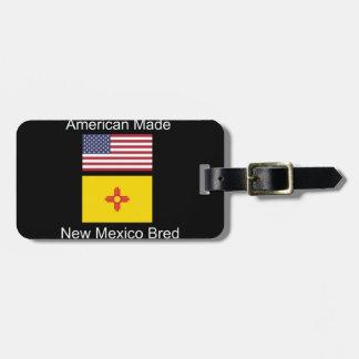 """American Born..New Mexico Bred"" Flag Design Luggage Tag"