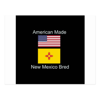 """American Born..New Mexico Bred"" Flag Design Postcard"