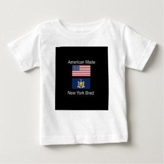 """American Born..New York Bred"" Flag Design Baby T-Shirt"