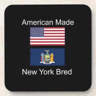 """American Born..New York Bred"" Flag Design Coasters"