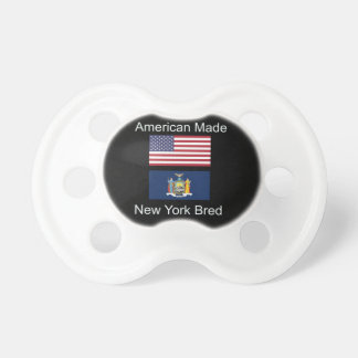 """American Born..New York Bred"" Flag Design Pacifier"