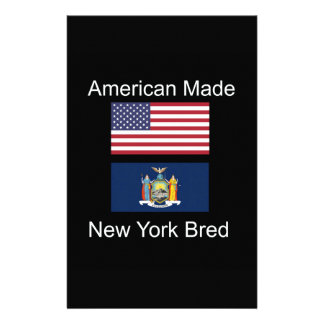 """American Born..New York Bred"" Flag Design Stationery"