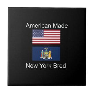 """""""American Born..New York Bred"""" Flag Design Tile"""