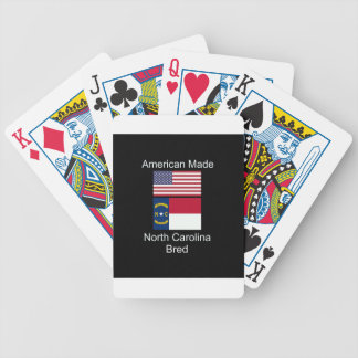 """American Born..North Carolina Bred"" Flag Design Bicycle Playing Cards"