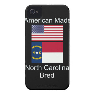 """American Born..North Carolina Bred"" Flag Design iPhone 4 Case"