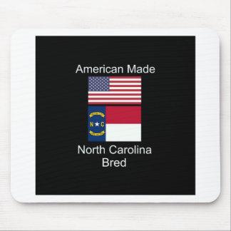 """American Born..North Carolina Bred"" Flag Design Mouse Pad"