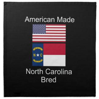 """""""American Born..North Carolina Bred"""" Flag Design Napkin"""