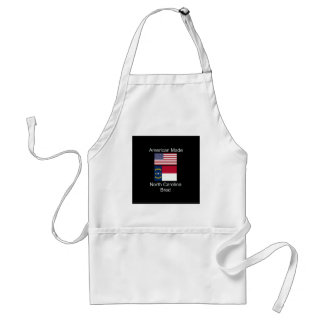 """American Born..North Carolina Bred"" Flag Design Standard Apron"