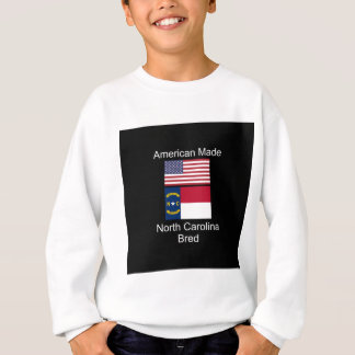 """American Born..North Carolina Bred"" Flag Design Sweatshirt"