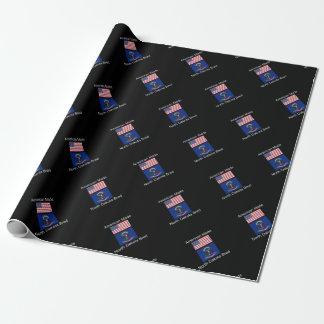 """American Born..North Dakota Bred"" Flag Design"