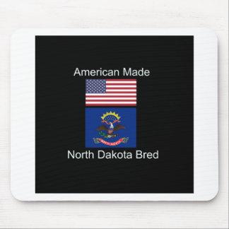 """American Born..North Dakota Bred"" Flag Design Mouse Pad"