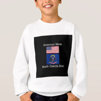 """American Born..North Dakota Bred"" Flag Design Sweatshirt"
