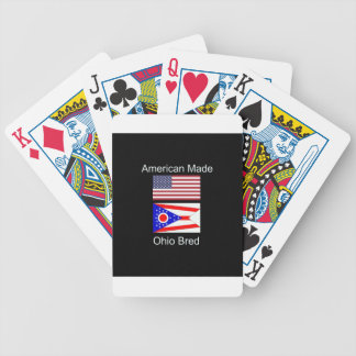 """""""American Born..Ohio Bred"""" Flags and Patriotism Bicycle Playing Cards"""