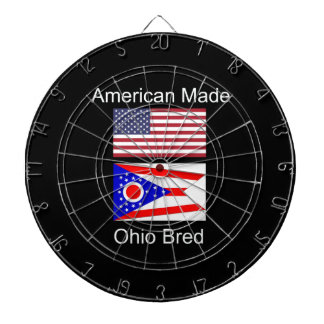 """American Born..Ohio Bred"" Flags and Patriotism Dartboard"