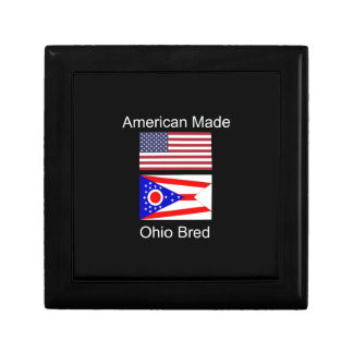 """""""American Born..Ohio Bred"""" Flags and Patriotism Gift Box"""