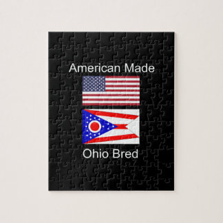 """""""American Born..Ohio Bred"""" Flags and Patriotism Jigsaw Puzzle"""