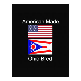 """American Born..Ohio Bred"" Flags and Patriotism Letterhead"