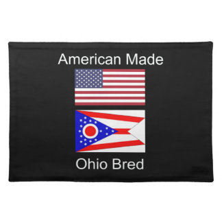 """""""American Born..Ohio Bred"""" Flags and Patriotism Place Mat"""