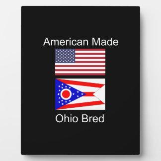 """""""American Born..Ohio Bred"""" Flags and Patriotism Plaque"""