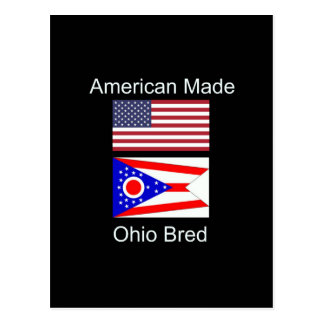 """American Born..Ohio Bred"" Flags and Patriotism Postcard"