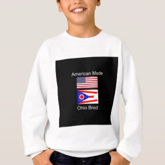 """American Born..Ohio Bred"" Flags and Patriotism Sweatshirt"
