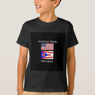 """American Born..Ohio Bred"" Flags and Patriotism T-Shirt"