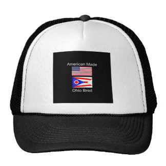"""""""American Born..Ohio Bred"""" Flags and Patriotism Trucker Hat"""