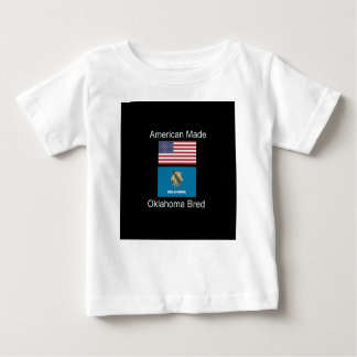 """American Born..Oklahoma Bred"" Flag Design Baby T-Shirt"