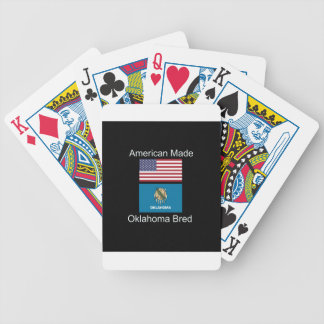 """American Born..Oklahoma Bred"" Flag Design Bicycle Playing Cards"