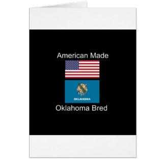 """American Born..Oklahoma Bred"" Flag Design Card"