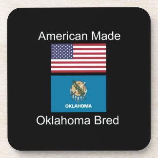 """American Born..Oklahoma Bred"" Flag Design Coaster"