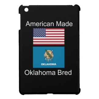 """American Born..Oklahoma Bred"" Flag Design iPad Mini Cases"