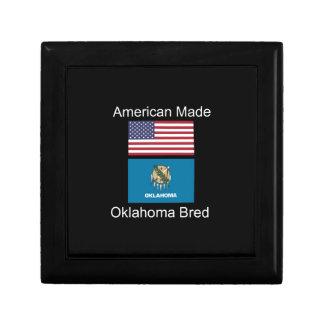 """""""American Born..Oklahoma Bred"""" Flag Design Jewelry Box"""